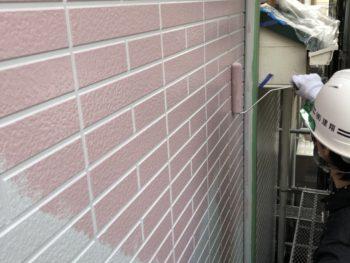 千葉県 我孫子市 根戸 多彩模様 タイル調塗装 ベランダFRP