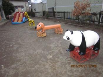 結構前の工事 幼稚園 遊具 塗装 綺麗 錆を止める
